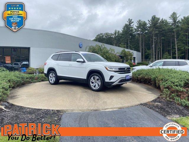 used 2021 Volkswagen Atlas car, priced at $43,900
