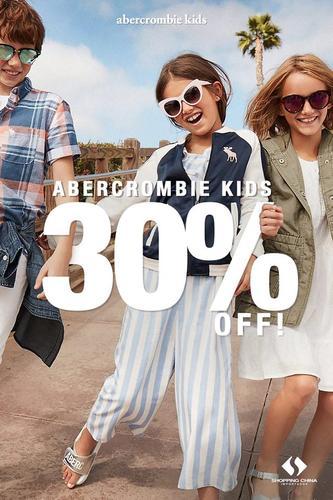30% OFF na Abercrombie Kids