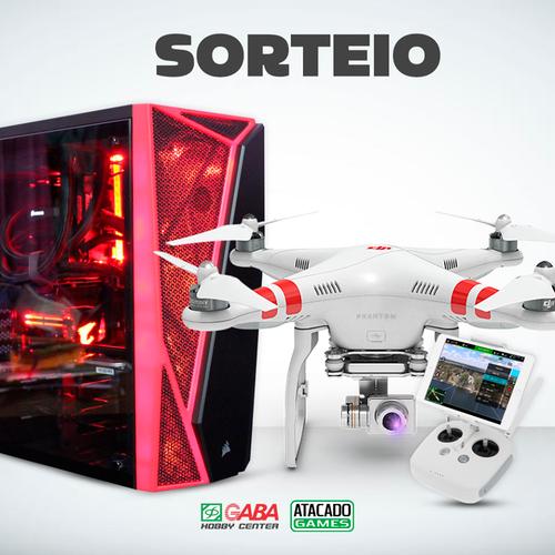 PC GAMER E DRONE DJI PHANTON