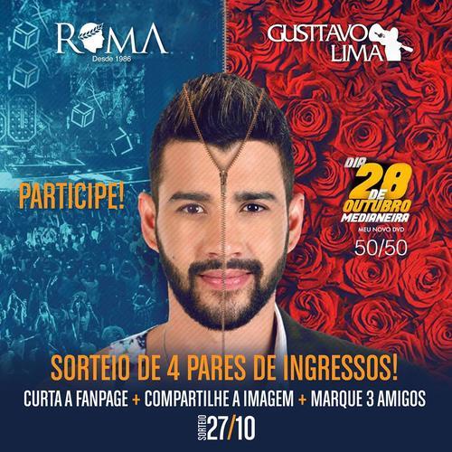 Sorteio de Ingresso para o show do Gustavo Lima