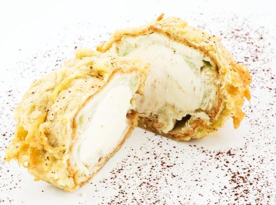 Crème glacée frite