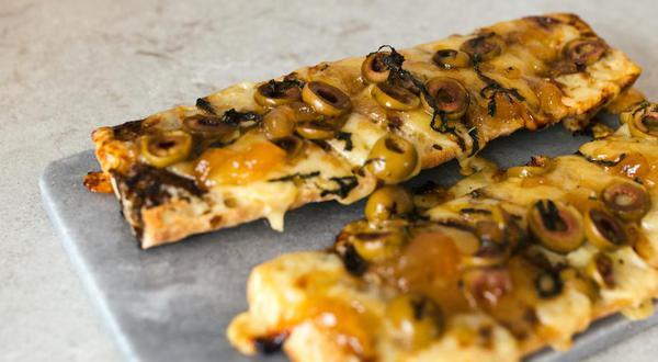 Baguette à partager au fromage et aux poires