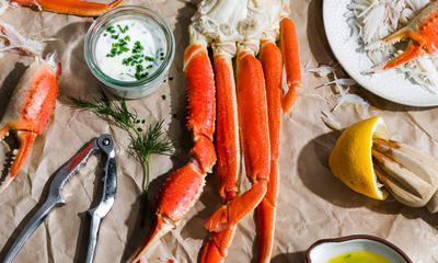 Crabe des neiges et ses deux sauces