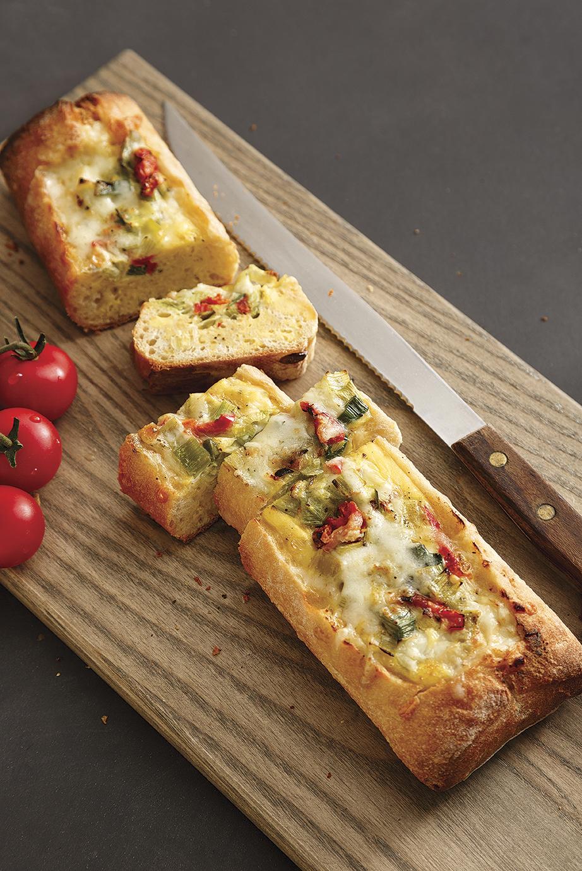 Baguette farcie au fromage façon quiche