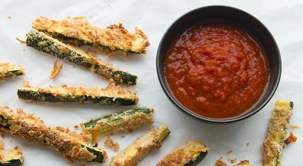 Bâtonnets de courgettes au parmesan