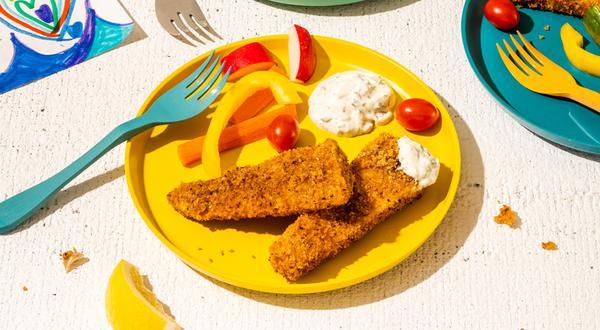 Bâtonnets de poisson et sauce tartare