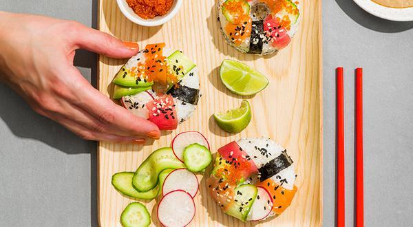 Beignets sushi