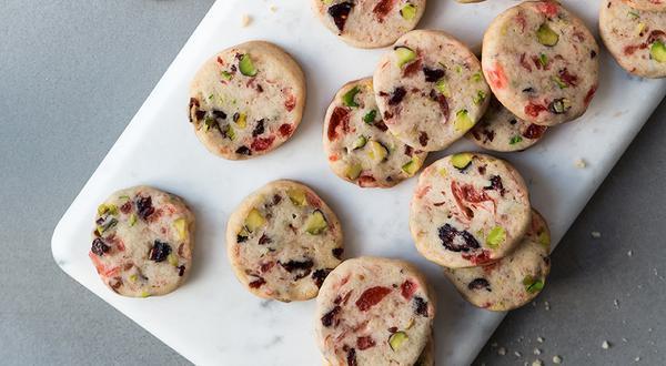 Biscuits à la canneberge et aux pistaches