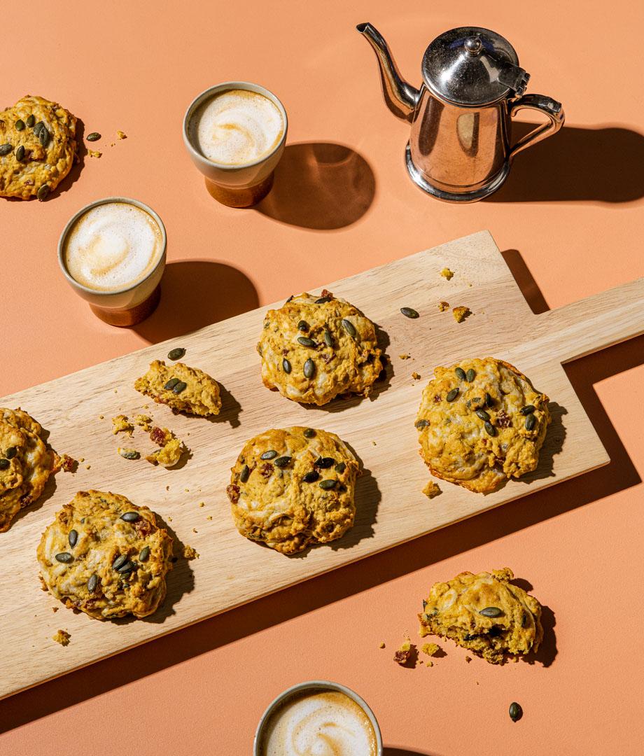 Biscuits salés citrouille et pancetta