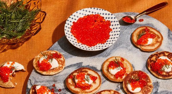 Blinis maison - Mini pancakes au sarrasin