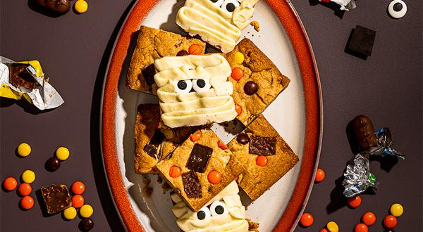 Blondies au chocolat d'Halloween