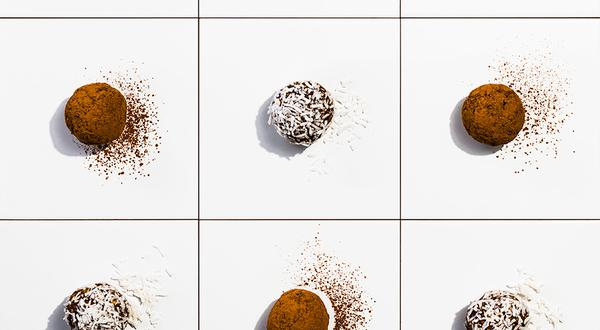 Boules d'énergie au lait au chocolat