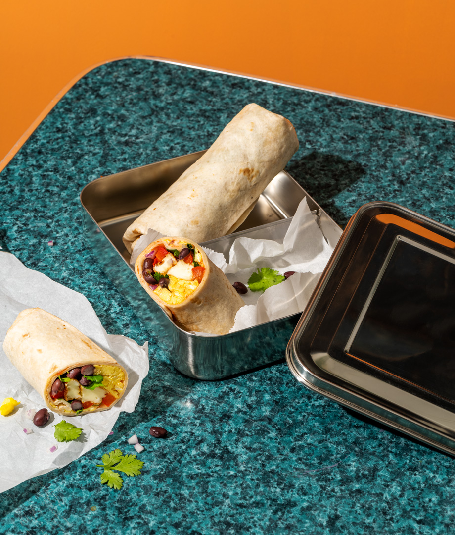 Burrito déjeuner au fromage grillé