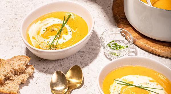 Crème à la patate douce et au navet
