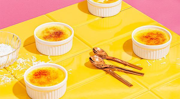 Crème brulée à la noix de coco
