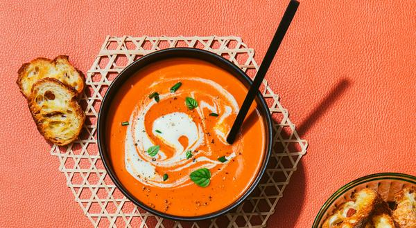 Crème de tomates et de poivrons rôtis