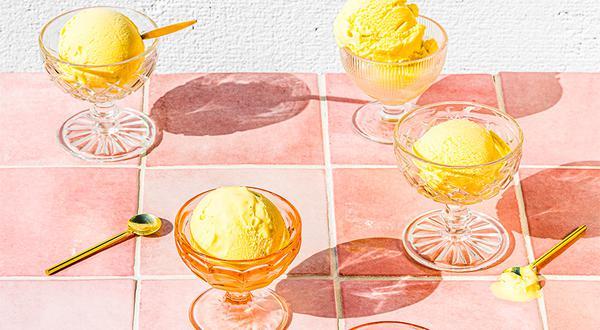 Crème glacée à la mangue et lime