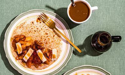 Crêpes de sarrasin aux pommes et cheddar