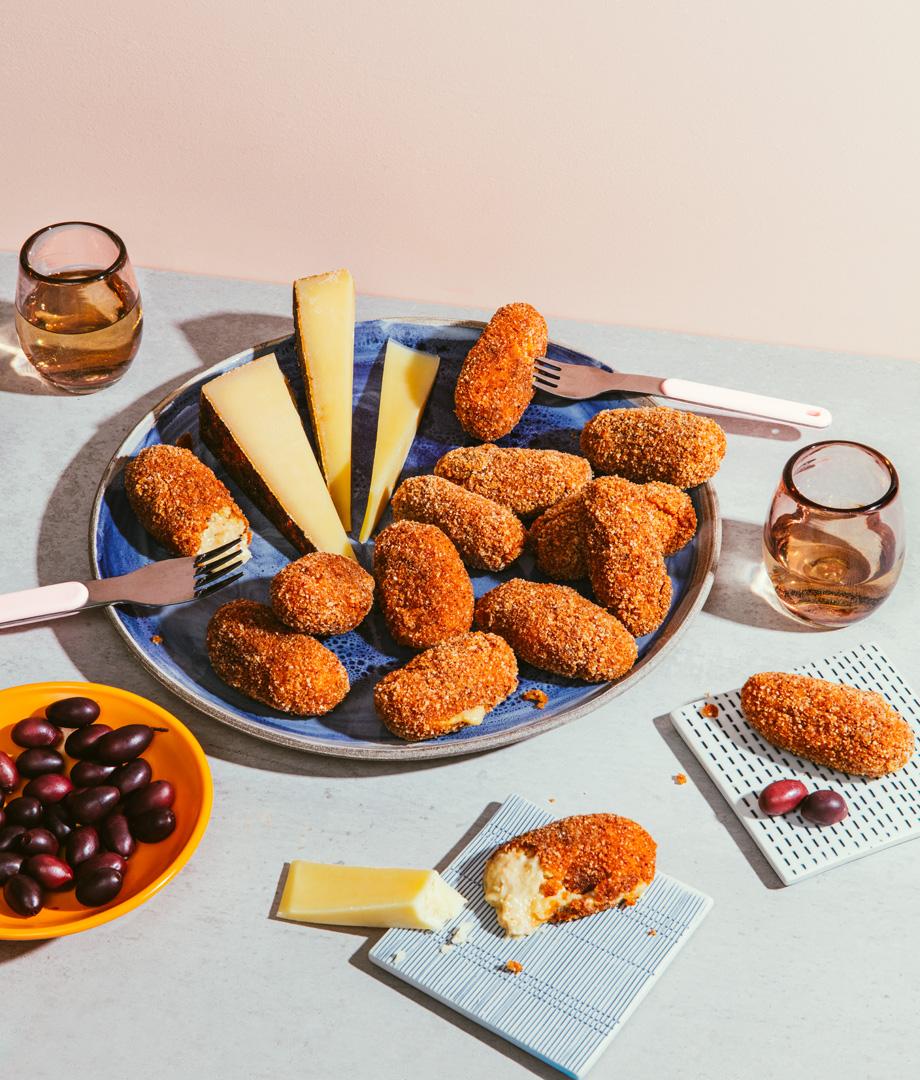 Croquettes crémeuses au dindon et au fromage