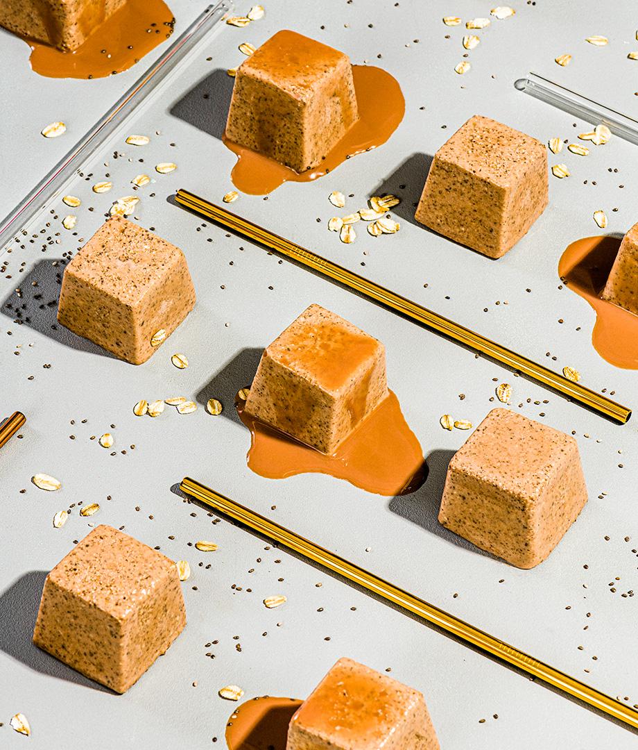 Cubes de smoothie protéinés au lait au chocolat