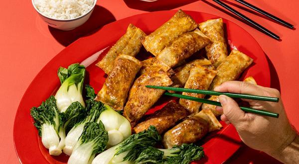 Egg rolls au porc cuits au four