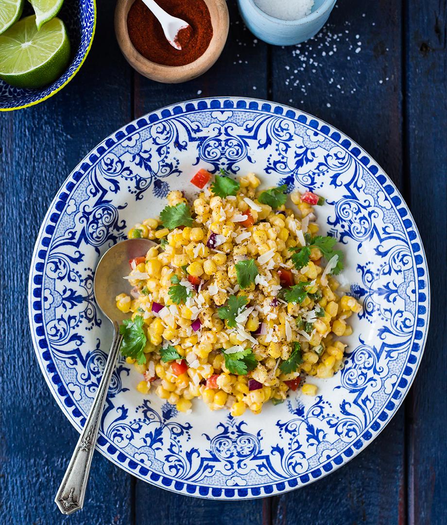 Esquites (salade tiède de maïs mexicaine)
