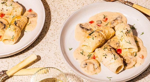 Filet de soleaux champignons