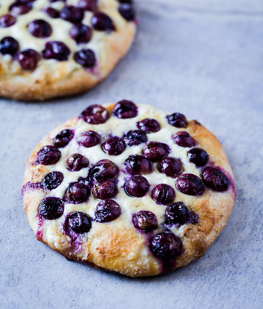 Fougasse dessert ricotta et raisins