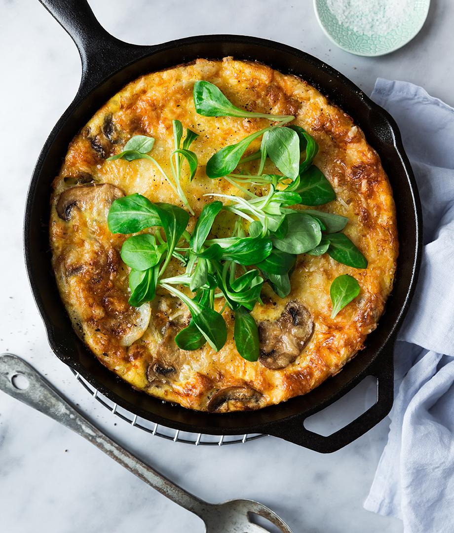 Frittata champignons et fromage