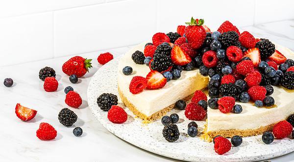 Gâteau à la ricotta et aux petits fruits
