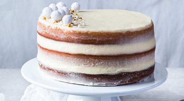 Gâteau au beurre et glaçage au champagne