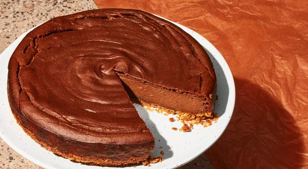 Gâteau au fromage, garniture chocolat-marrons
