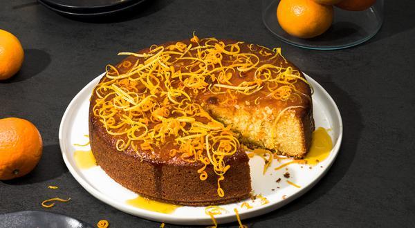 Gâteau au yogourt, aux amandes et aux clémentines