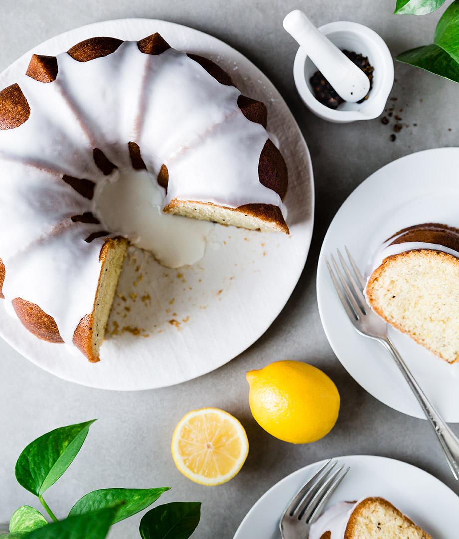 Gâteau Bundt au gin tonic