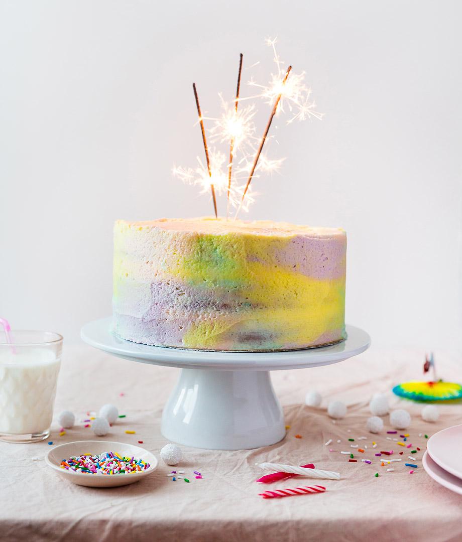 Gâteau de fête confetti