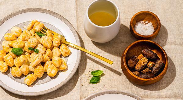 Gnocchis à la citrouille et sauce au fromage