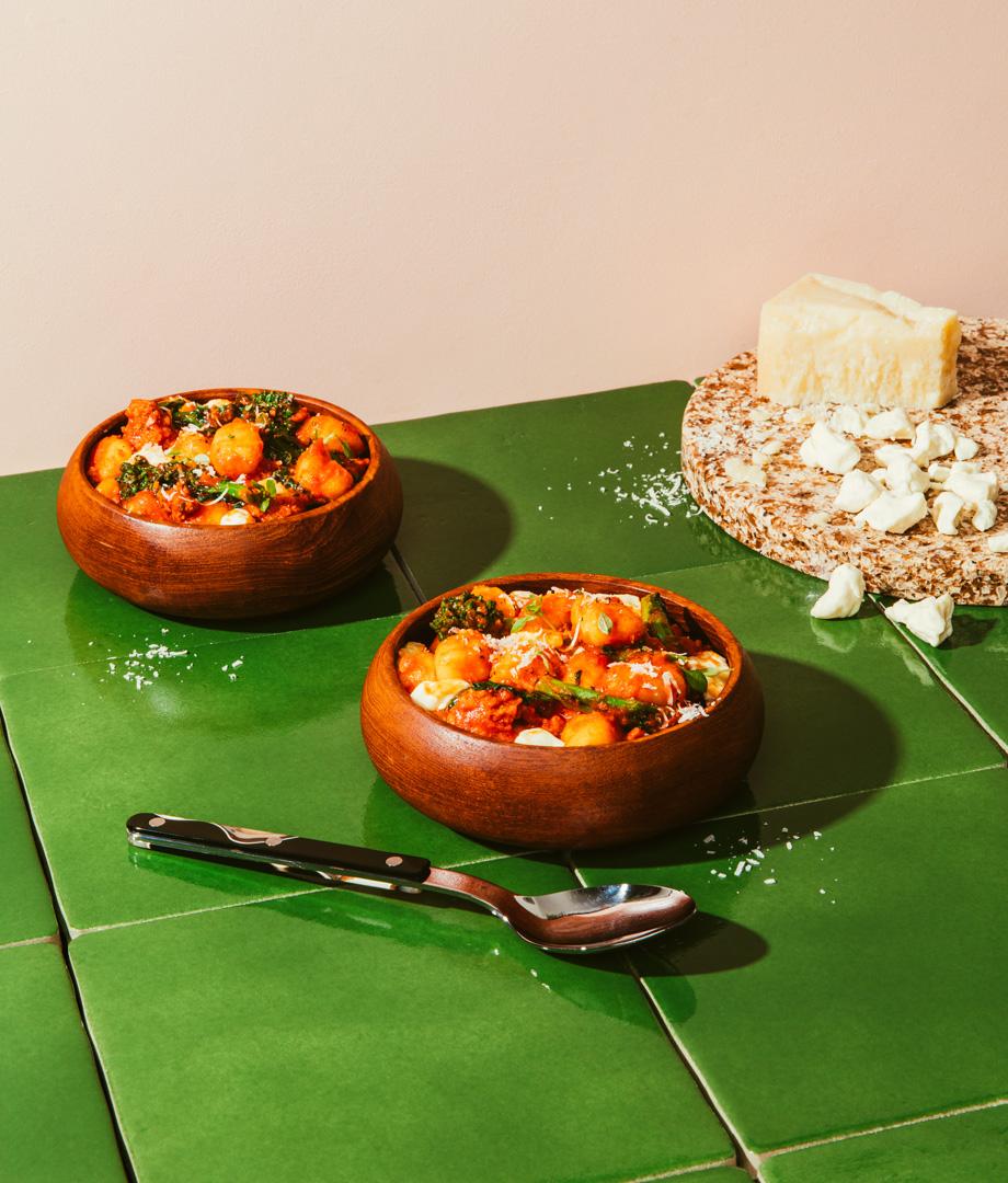 Gnocchis one-pot à la saucisse italienne et aux rapinis