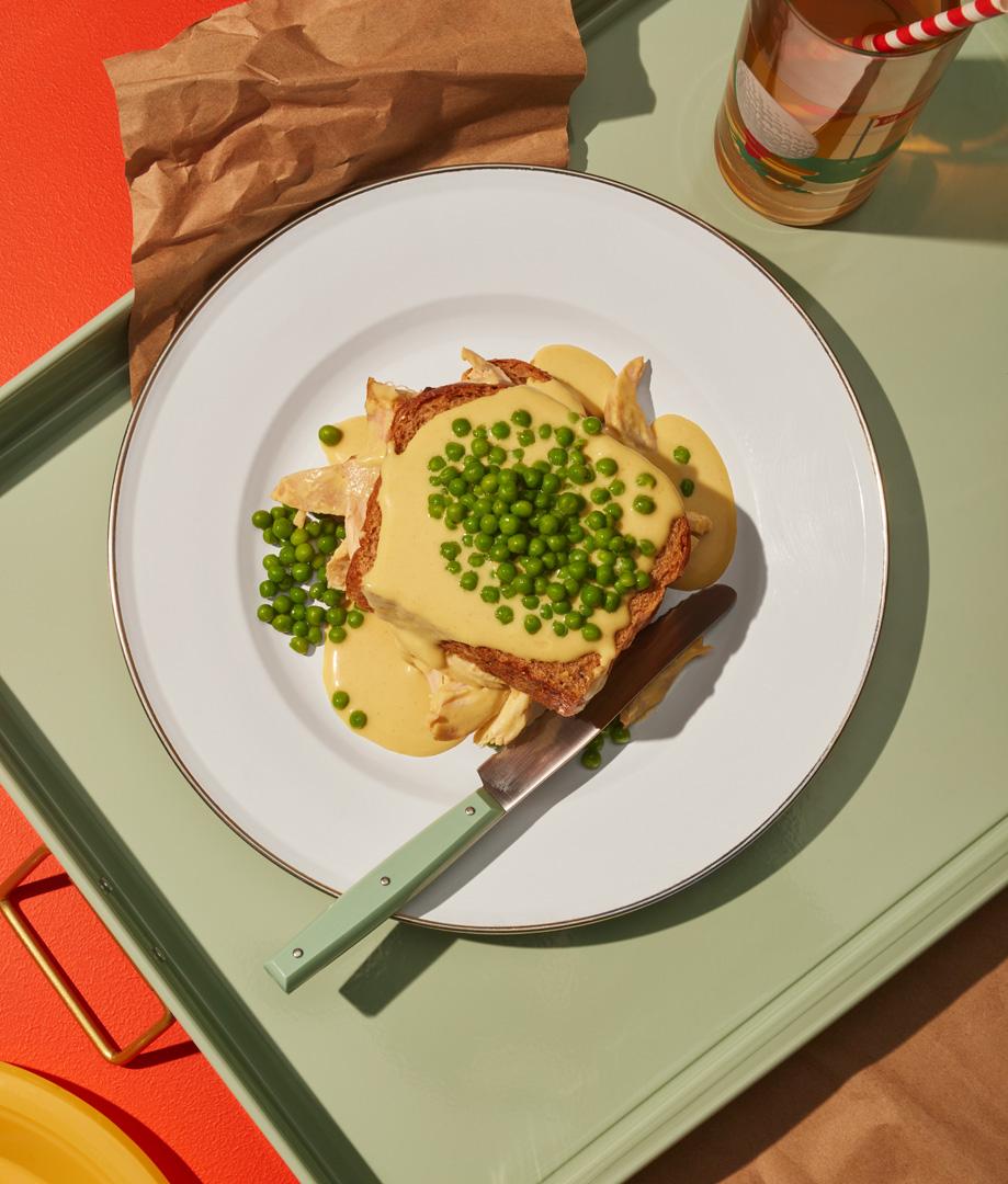 Hot chicken, sauce à la moutarde de Dijon et au miel