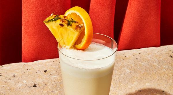 Lait frappé à l'ananas et à la vanille (milkshake)