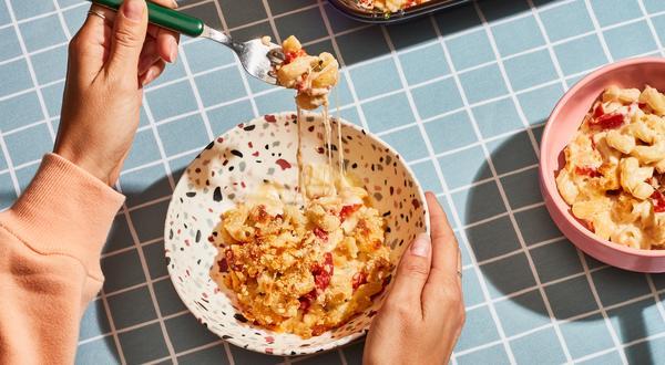 Macaroni gratiné aux trois fromages d'ici