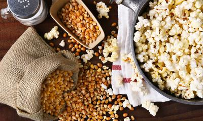 Maïs soufflé au beurre