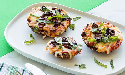 Mini-pizza portobello