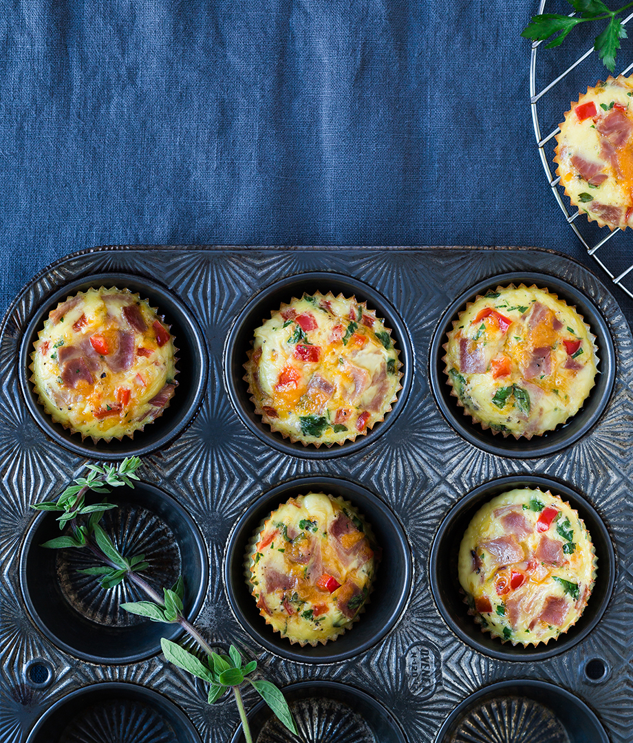 Mini-quiches en muffins