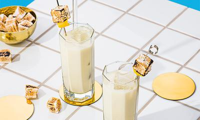 Mocktail au fromage bleu et à la guimauve