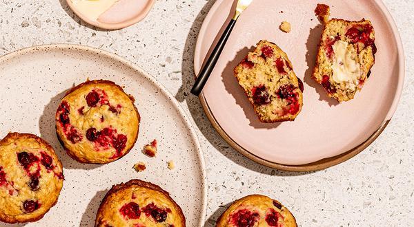 Muffins à l'orange et aux canneberges