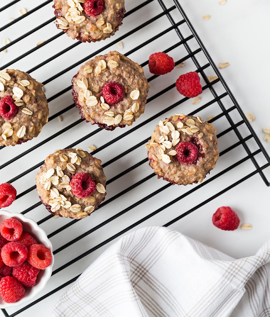 Muffins énergisants framboises, citron et chia