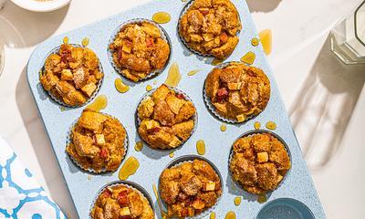 Muffins pain doré aux pommes et pancetta