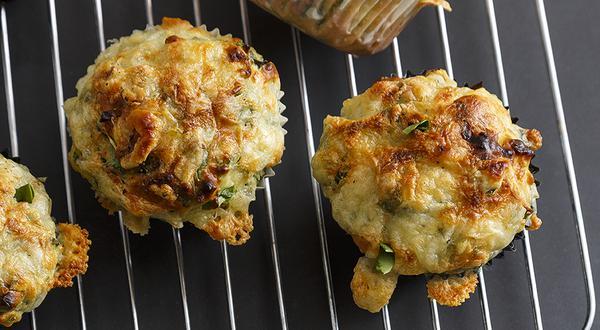 Muffins salés aux épinards et fromage