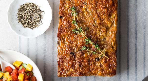 Pain de veau, salsa de mangues et coriandre
