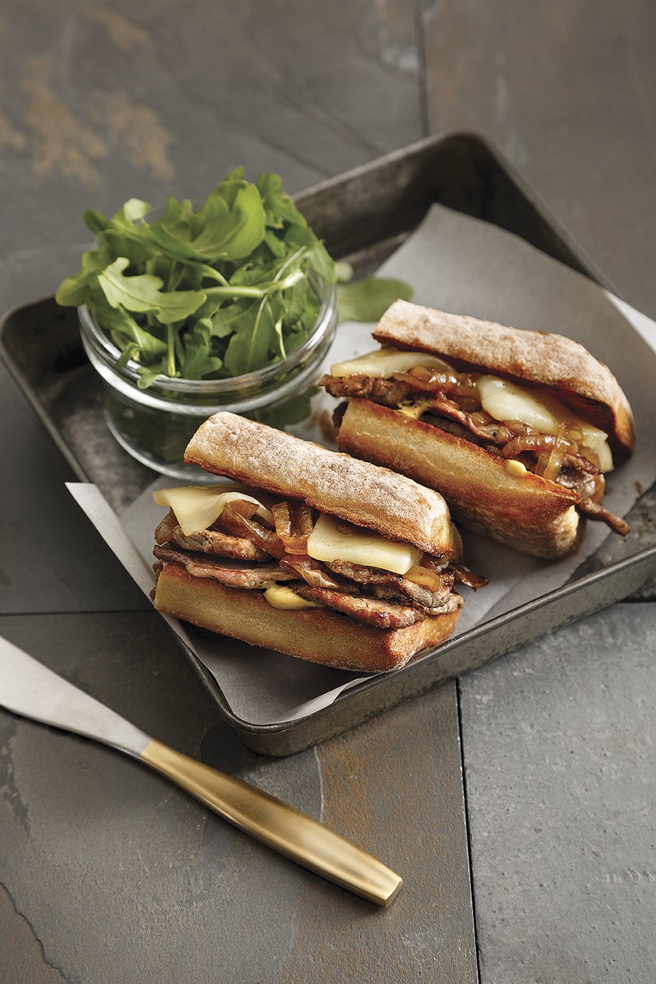Paninis steak et fromage